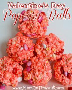 Valentine's Day Popcorn Balls | Mom On Timeout