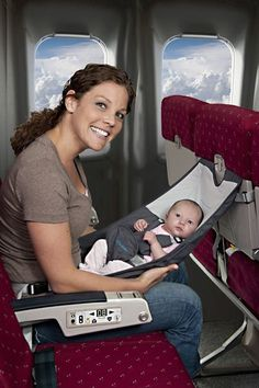 Baby hammock for flights. Great idea!
