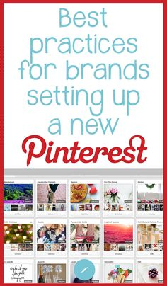 Best practices for brands setting up a new Pinterest