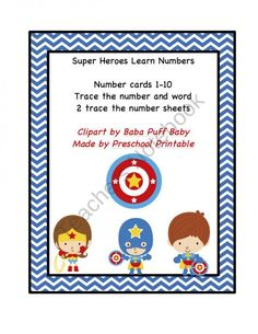 Super Heroes Learn Numbers product from Preschool-Printable on TeachersNotebook.com