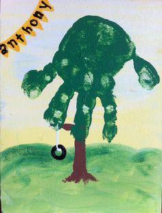 Handprint Children's Craft Kit 6x9 Canvas.