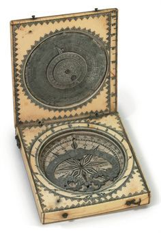 A SCRIMSHAW WHALE BONE SUN DIAL  PROBABLY FRENCH, 19TH CENTURY