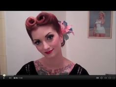 This is the hairstyle I had in my 20 questions video and I got a lot of requests for a tutorial. So here it is! This is a pretty traditional center part victory roll updo with some flowers added in for fun. If you like my makeup, keep watching... tutorial to come!    Music by Mad Marge and the Stonecutters    XOXO  Cherry Dollface  facebook.com/theche...