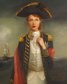 'Her Face Launched A Thousand Ships,' from Janet Hill Studio. I want all of her portraits of these intriguing women.