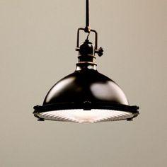 """Kichler Olde Bronze Fresnel Lens 13 1/2"""" Wide Pendant Light"""