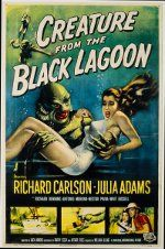 Florida Movie Posters: Creature from the Black Lagoon, 1954; This was one of quite a few movies that have been filmed at Wakulla Springs, near Tallahassee.