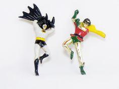 1960s Vintage Batman and Robin Pins - Rare and Unusual, via Etsy.