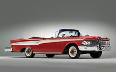 Edsel Corsair Convertible 1959 - Not much a fan of american cars, but this one has something that so many others don't...  #Car
