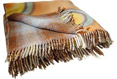 1970s Reversible Heavy Picnic Blanket  @flea_pop