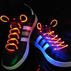 love lights, glow sticks, lace, skate shoes, flashing, led shoelac, night time, glow run, parti