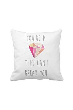 Pillow Cover Inspirational You're a Diamond Cotton