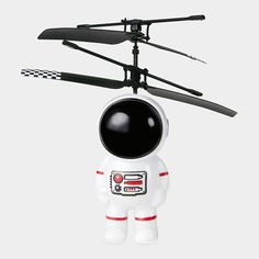 If you can believe it, besides being super fun, manipulating the remote control so that the spaceman stays in the air might just give children practice in emotion regulation and impulse control.  Must remain calm and focused to keep him in flight!