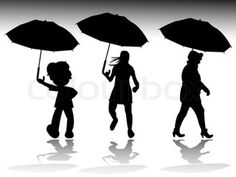 rainy day silhouettes
