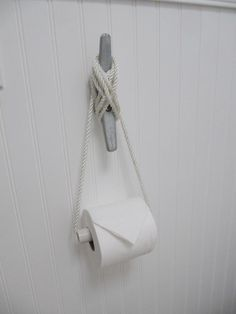 Nautical Cleat as DIY TP Roll Holder, Remodelista