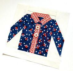 Paper pieced Shirt block