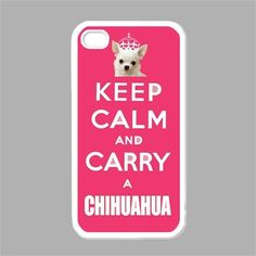 CHIHUAHUA iPhone Case Keep Calm iPhone 4 Case iPhone 4s Case Keep Calm and Carry a Chihuahua Pink Cover
