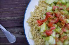 Day #10 Cilantro Lime Zing Quinoa Cucumber Tomato Salad