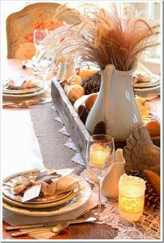 Fall and Thanksgiving Table Settings