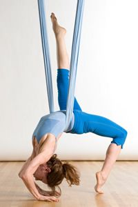 I love aerial yoga.