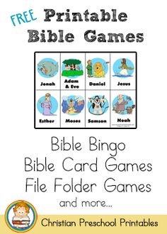 Printable Bible games......Bible Bingo was what caught my eye....