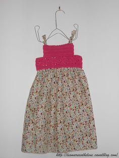 Robe à plastron au #crochet ( #dress #granny square) by Tout Un Fil