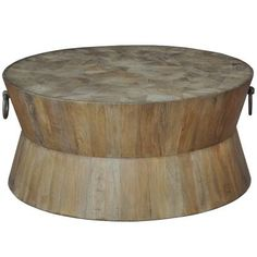 "Tribal Coffee Table 38"" Rd, Sarreid Ltd"