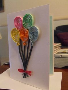 Birthday Quilled Card