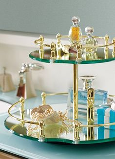 Keep all your makeup accessories organized with this Lazy Susan vanity tray.