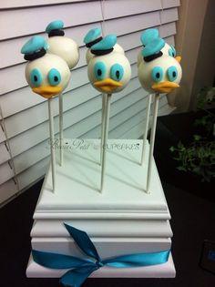 Donald Duck Cake Pops