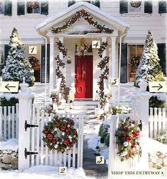 Christmas porch -