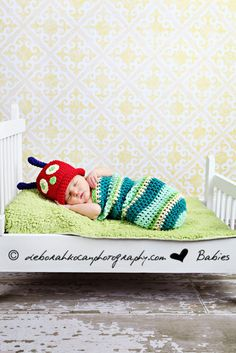 Caterpillar Cocoon Costume by Barabara Hanna  #Babies #Very_Hungry_Caterpillar #Costume