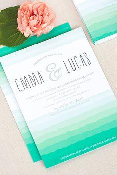 wedding parties, ombre color palette, paper, color trends