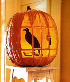 Martha Stewart Halloween Ideas | Great ideas!!! - Beauty today bird, pumpkin carving patterns, carved pumpkins, diy crafts, halloween pumpkins, crow, pumpkin carvings, spooky halloween, ravens