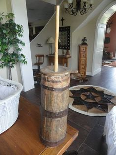 Antique Amish butter churn from ohio....