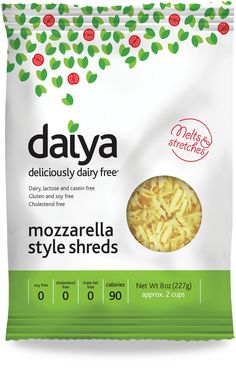Just discovered this cheese, love it!  Daiya Foods - Gluten free, Soy free, and Dairy free.
