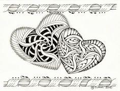 Tangled Ink Art by Sue Clark, Certified Zentangle Teacher CZT