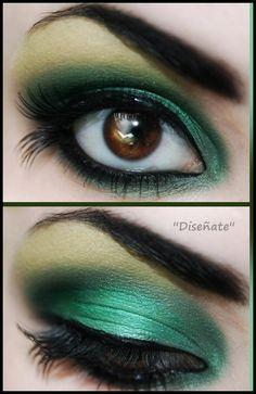 maquillaje tonos verdes  http://www.facebook.com/pages/Dise%C3%B1ate/359408580815479?ref=hl