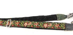 Retro Hippy Embroidered Flower Floral Vintage Camera Strap Velvet Backed | eBay