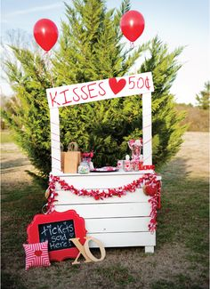 Valentines day kissing booth