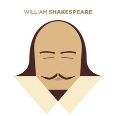 Shakespeare cute cartoon