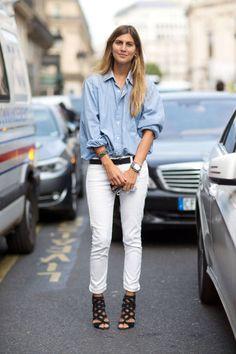 9 Ways To Wear White Denim