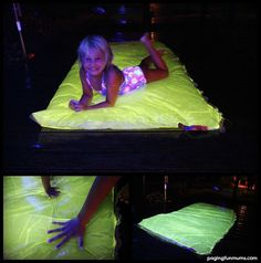 GLOWING Water Blob - Perfect for a Summer's Night Party! SO much FUN!! Full tutorial on site including the safe non-toxic glow mixture!