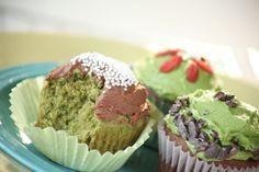 Vegan/Gluten Free/Sugar Free, Matcha Green Tea Cupcakes