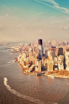 gorgeous view of lower manhattan and the building of one world trade center in new york city #nyc #wtc