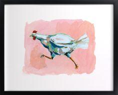 wall art, chicken, frame, price tag, art prints, kitchen, live room, illustr, betti hatchett