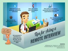 Ten Tips to Ace an Online/Video Interview via TheSavvyIntern and infographic by OnlineCollege.org