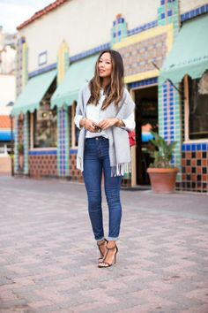 Aimee Song gets dressed up in our denim. #CatalinaIsland #DreamingInBlue