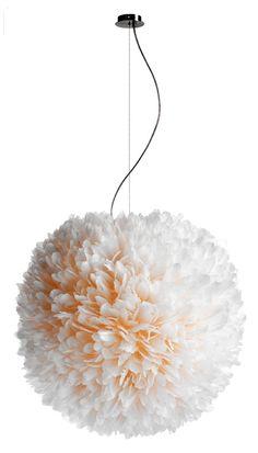 decor, lamps, pendant light, flower lamp, suspens lamp, pluma cubic, goos feather, feathers, design