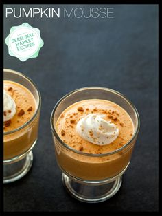 it's that time of the season.... pumpkin mousse
