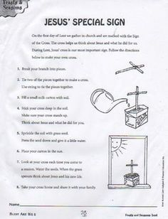 Help your child make a cross for Lent.
